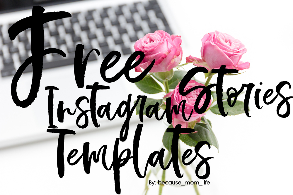 Pretty floral inspirational ger instagram stories template