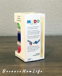 MODO Modern Dough - 3 containers with stamps and sculpting tool included